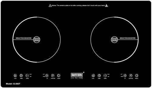 Bếp Từ Giovani G-292T, Thiết Kế Hiện Đại, Booster Nấu Siêu Nhanh