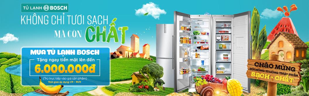Tủ lạnh Bosch - Không chỉ tươi sạch mà còn chất