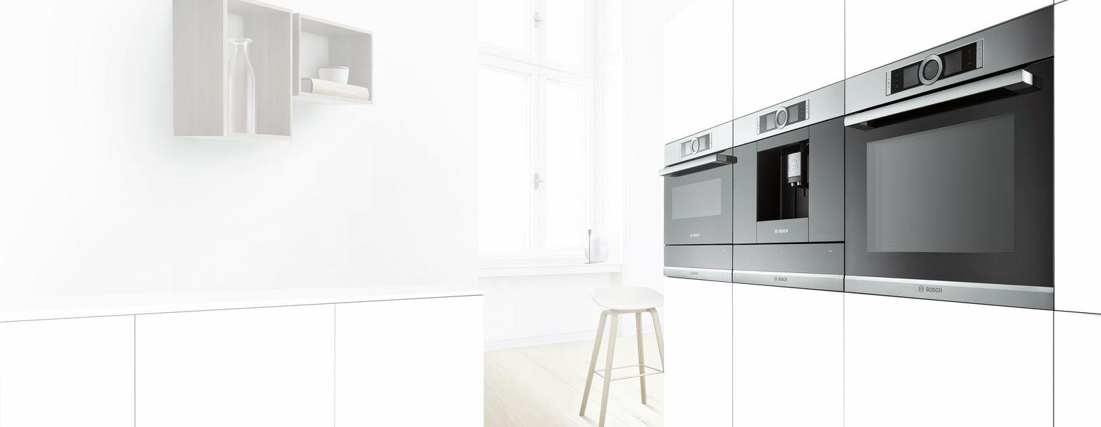 Bosch HBG42R350E thiết kế sang trọng chất liệu bằng inox sáng bóng