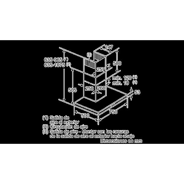 Máy Hút Mùi Bosch DWB77IM50 Kích Thước 75cm, Thiết Kế Hiện Đại, Chiếu