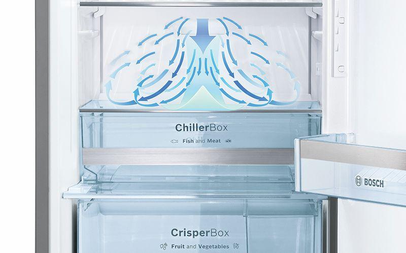 Hệ thống MultiAirflow: phân bố không khí đồng đều giúp thực phẩm có độ tươi lâu hơn.
