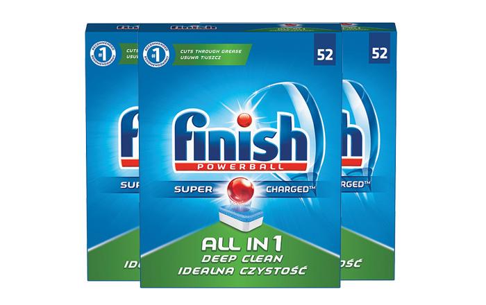 1. Hộp viên rửa bát finish:  52 viên 6 chức năng.