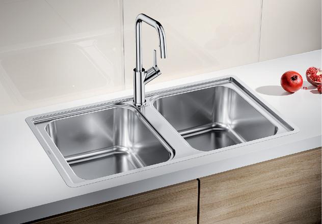 Chậu Rửa Bát Blanco LEMIS 8 IF Thiết Kế Thanh Lịch, Khu Vực Rửa Rộng
