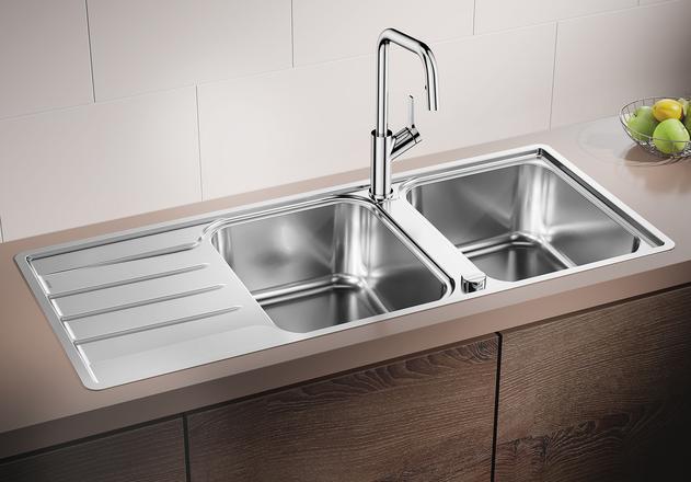 Chậu Rửa Bát Blanco LEMIS 8 S IF Dung Tích Lớn, Thoát Nước Cực Nhanh
