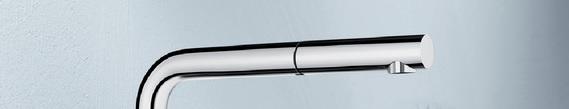 Vòi Rửa Bát Blanco Bateria MILA S chrome Kiểu Dáng Cổ Điển Đầy Tinh Tế